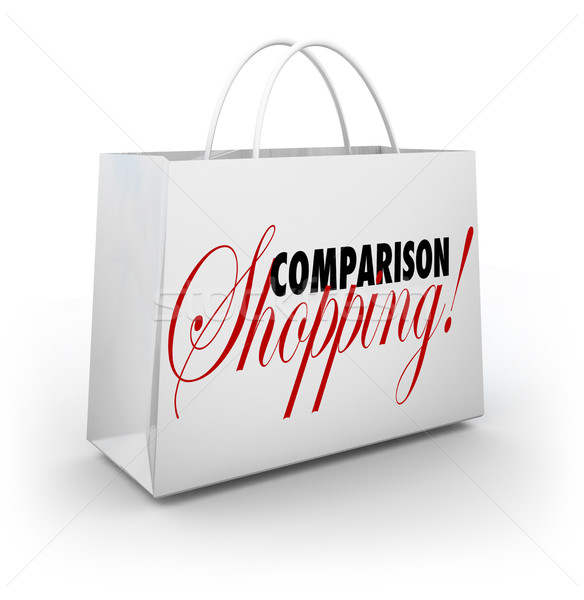 Comparison Shopping Bag Buy Merchandise Best Lowest Price Stock photo © iqoncept