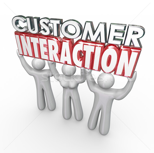 Customer Interaction 3d Words Clients Engagement Involvement Stock photo © iqoncept