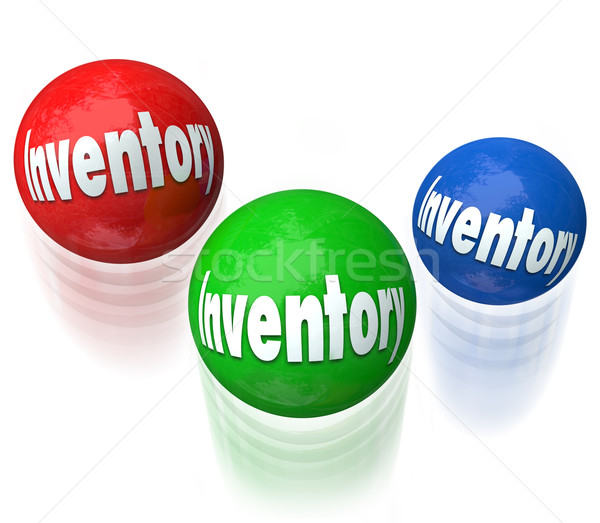 Inventory Juggling Balls Difficult Job Task Managing Output Prod Stock photo © iqoncept