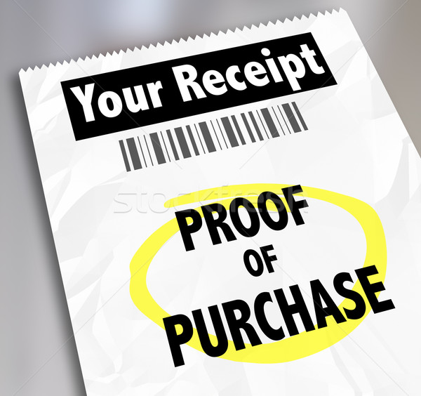 Proof of Purchase Your Receipt Buying Products Store Barcode Stock photo © iqoncept