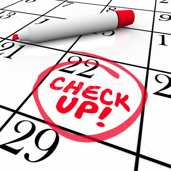 Check-Up Words Calendar Reminder Appointment Exam Schedule Stock photo © iqoncept