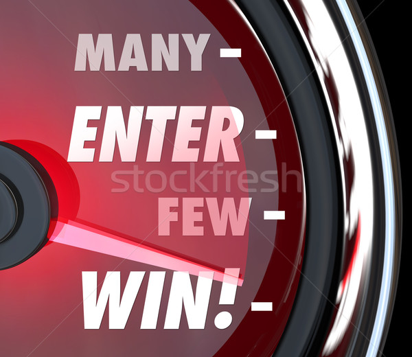 Many Enter Few Will Win Speedometer Game Contrest Entry Stock photo © iqoncept