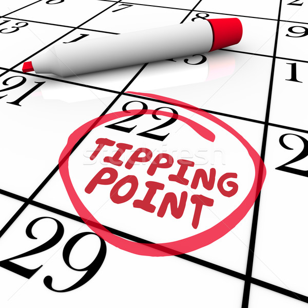 Tipping Point Words Circled on Calendar Due Date Critical Mass Stock photo © iqoncept
