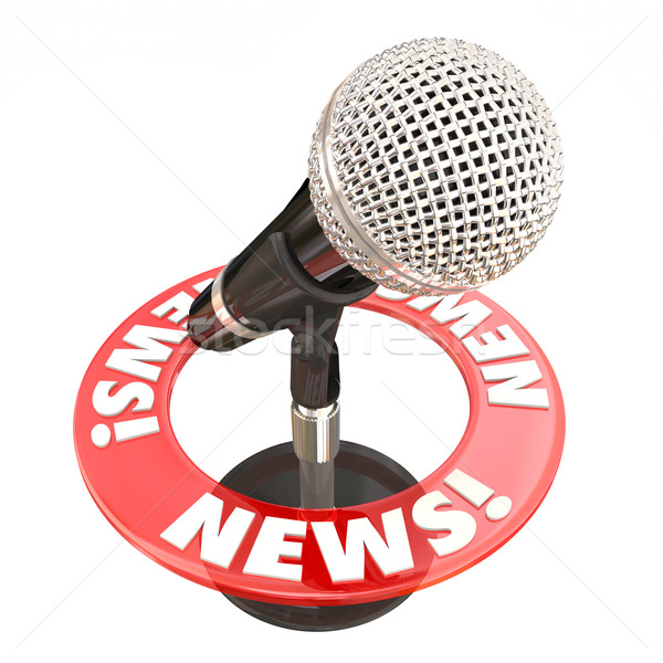 News Microphone Information Communication Sharing Urgent Update Stock photo © iqoncept