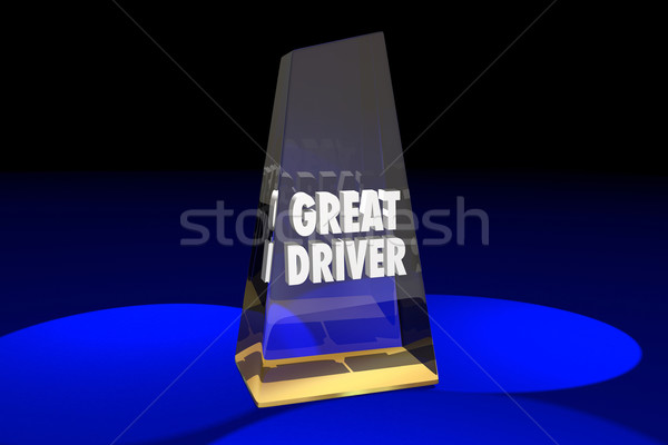 Great Driver Driving Safety Award Words 3d Illustration Stock photo © iqoncept