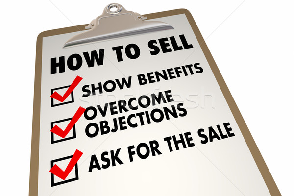 How to Sell Instructions Advice Checklist 3d Illustration Stock photo © iqoncept