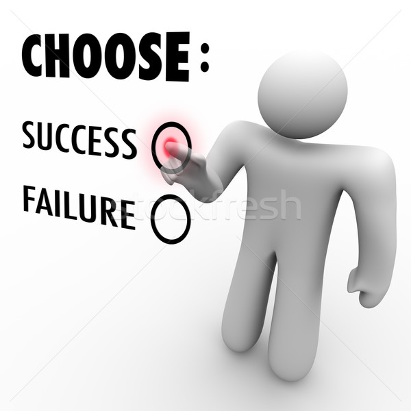 Choose Success Or Failure - Man at Touch Screen Stock photo © iqoncept