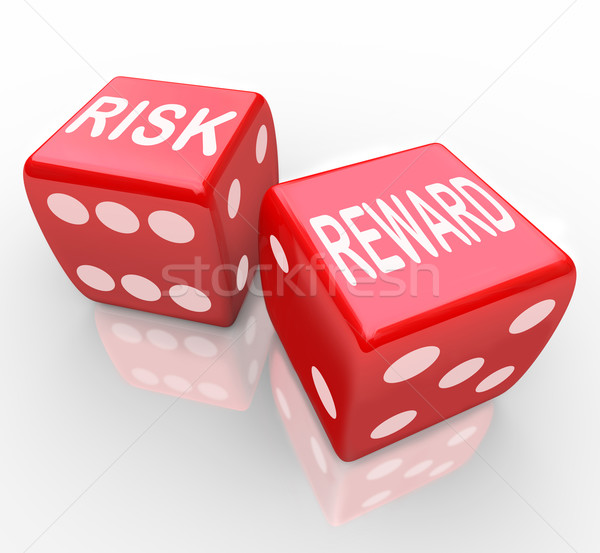 Risk and Reward - Words on Dice Stock photo © iqoncept
