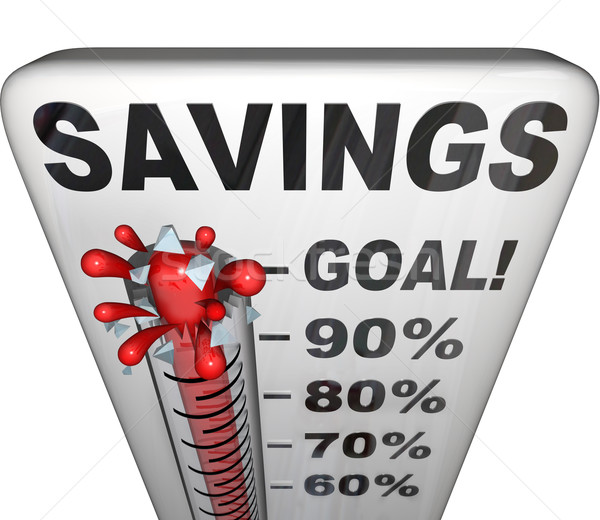 Savings Thermometer Measuring Money Nestegg Increase Stock photo © iqoncept