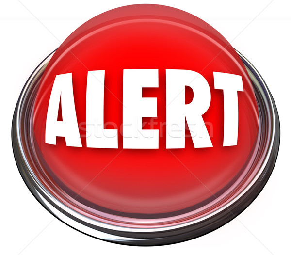 Alert Round Red Button Flashing Light Attention Stock photo © iqoncept