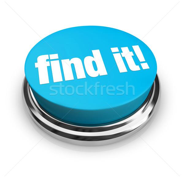 Stock fotó: Talál · kék · gomb · szavak · vásárlás · háló