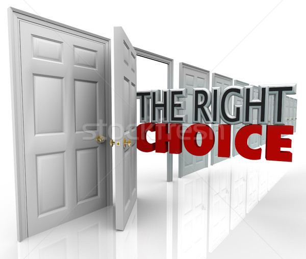 The Right Choice Open Door New Opportunity Choose Path Stock photo © iqoncept