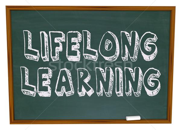 Lifelong Learning - Chalkboard Stock photo © iqoncept