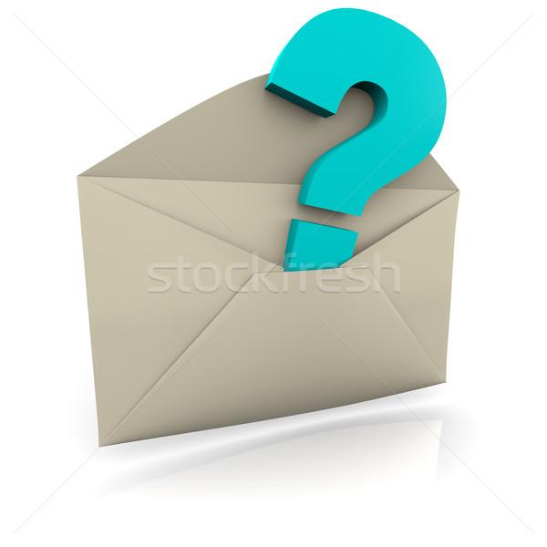 Question Mark Envelope Stock photo © iqoncept