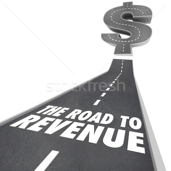 Road to Revenue Making Money Income Job Earning Stock photo © iqoncept