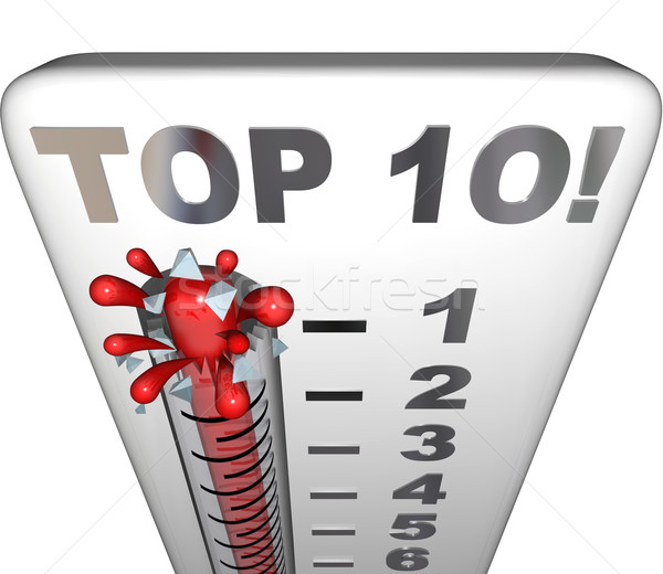 Top 10 Thermometer Ten Best Choices Review Award Rating Stock photo © iqoncept