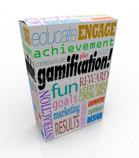 Gamification Product Package Box Gamify Your Education or Market Stock photo © iqoncept