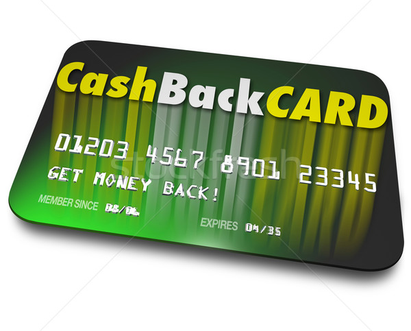 Stock photo: Cash Back Credit Card Incentives Reward Charge Money