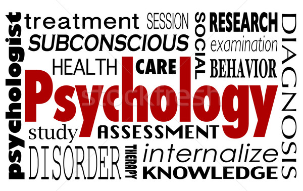 Psychologie mot collage traitement thérapie Photo stock © iqoncept