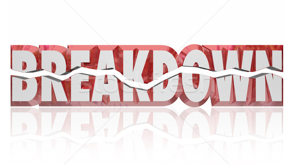 Breakdown Broken 3d Red Word Defect Problem Stock photo © iqoncept
