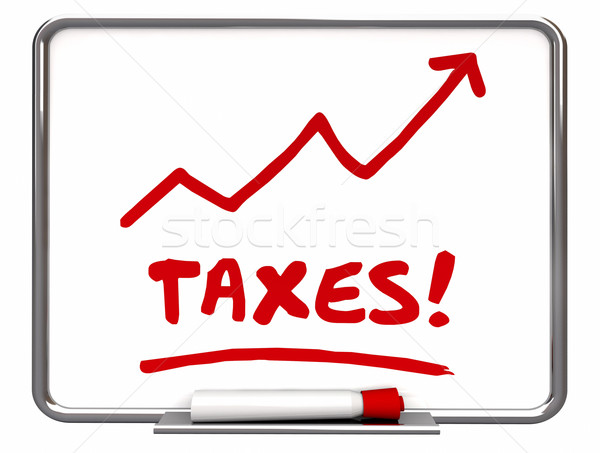 Taxes Rising Arrow Up IRS More Taxation 3d Illustration Stock photo © iqoncept