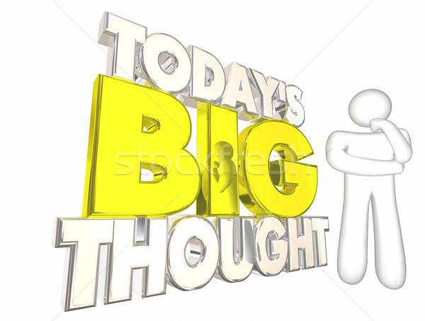 большой мысли Идея ежедневно головоломки мышления Сток-фото © iqoncept