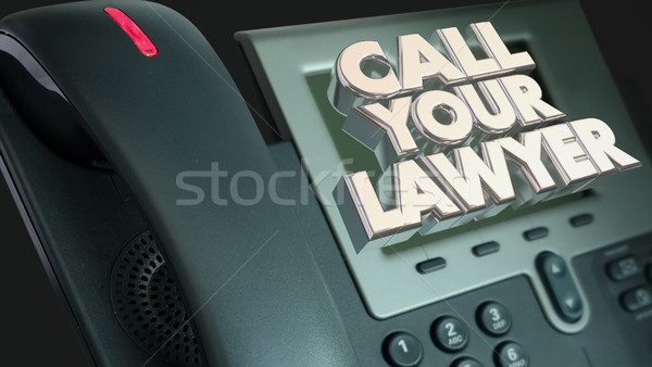 Call Your Lawyer Legal Help Lawsuit Sue Phone 3d Illustration Stock photo © iqoncept