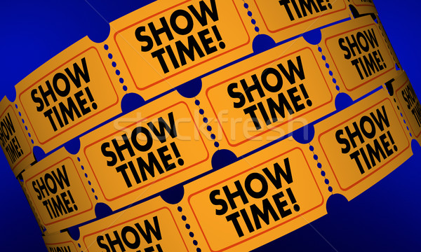 Showtime Movie Tickets Play Performance Admission 3d Illustratio Stock photo © iqoncept