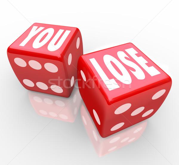 Perder palabras dos rojo dados fracaso Foto stock © iqoncept