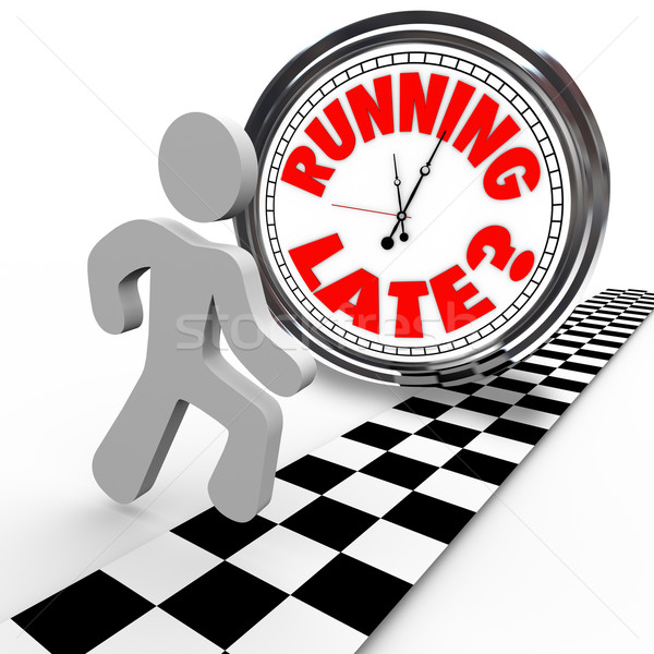 Running Late Racing Clock Time Tardiness Slow Stock photo © iqoncept