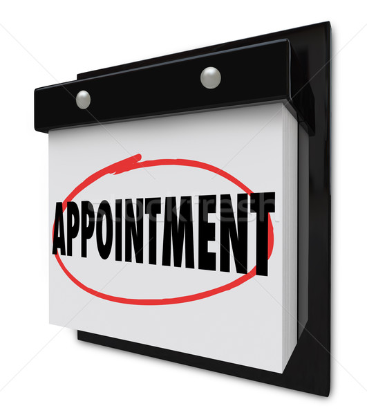 Appointment Reminder on Calendar Schedule Stock photo © iqoncept