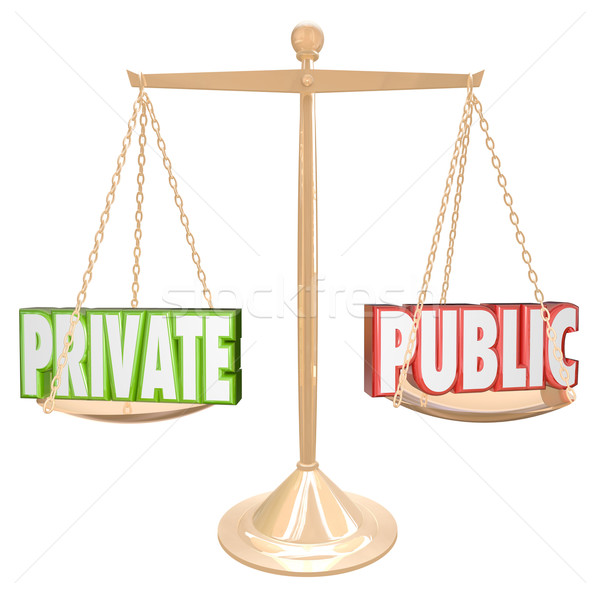 Private Vs Public Information Details Confidential Secrecy Stock photo © iqoncept
