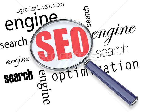 Search Engine Optimization - Magnifying Glass Stock photo © iqoncept