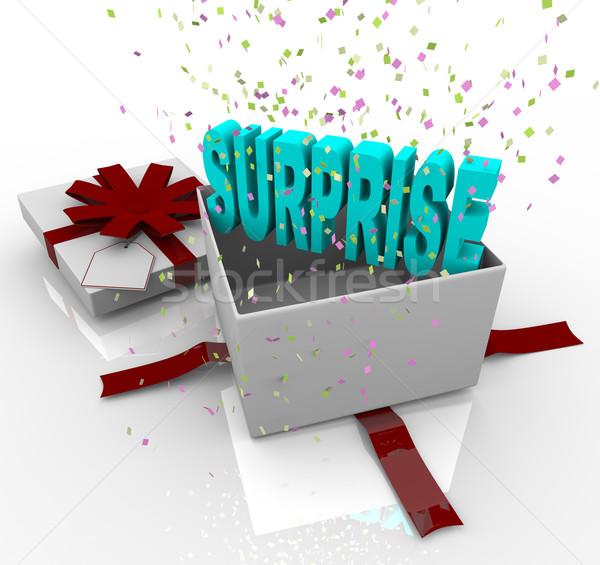 Surprise Present - Happy Birthday Gift Box Stock photo © iqoncept