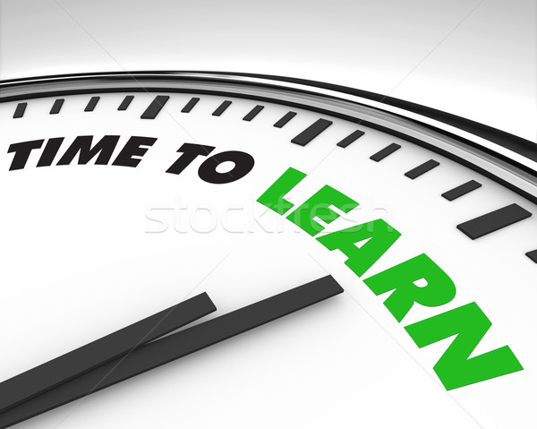 Time to Learn - Clock Stock photo © iqoncept