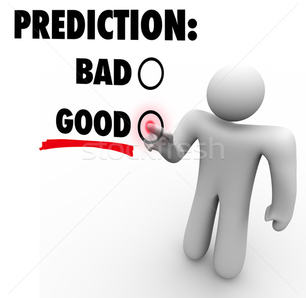 Good Vs Bad Prediction Words Choose Future Expectation Stock photo © iqoncept