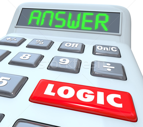 Logic Word Calculator Numbers Formula Equation Answer Stock photo © iqoncept