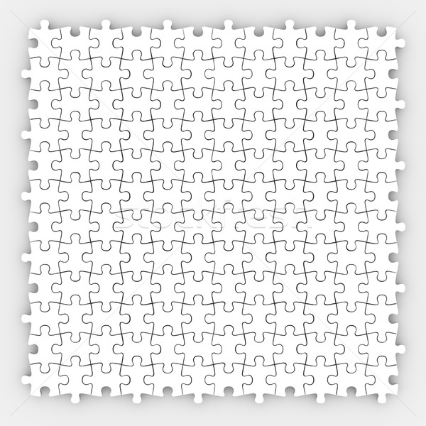 Puzzle Piece White Background Finished Completed Game Stock photo © iqoncept