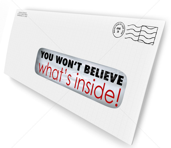 Envelope Special Delivery You Wont Believe Whats Inside Stock photo © iqoncept