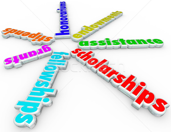 Scholarships Grants Financial Aid Support College Help Assistanc Stock photo © iqoncept