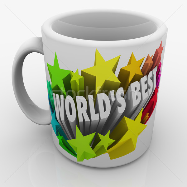 World's Best Mug Award Prize Top Performing Employee Boss Parent Stock photo © iqoncept