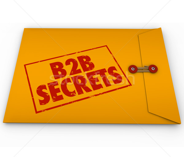 B2B Secrets Success in Business Sales Yellow Envelope Tips Advic Stock photo © iqoncept
