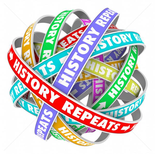Stockfoto: Geschiedenis · repetitieve · woorden · gisteren · kleurrijk