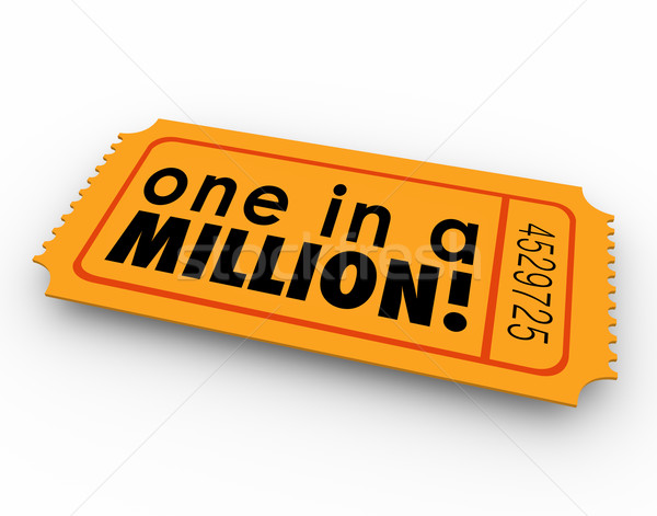 Stock photo: One in a Million Words Raffle Ticket Winner Game Luck Chance