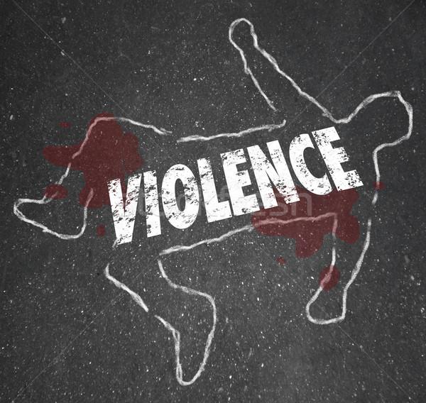 暴力 チョーク 言葉 死体 人 ストックフォト © iqoncept