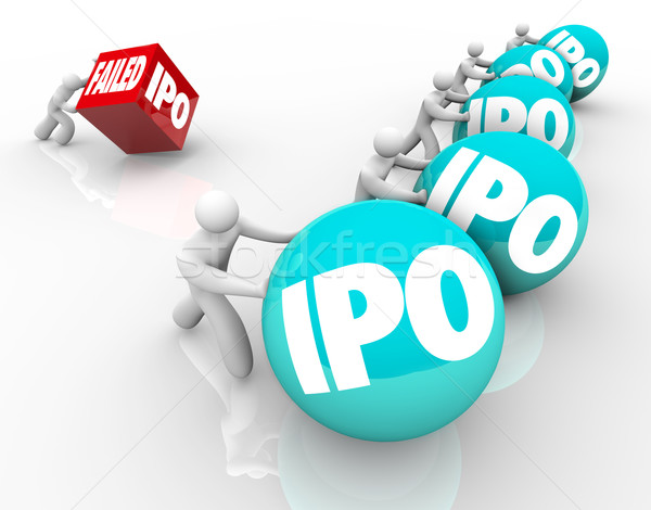 Failed IPO Bad Initial Public Offering Race Competition New Busi Stock photo © iqoncept