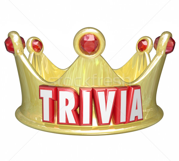 Trivia Word King Queen Crown Competition Game Winner Stock photo © iqoncept