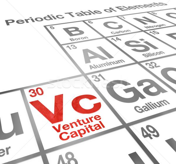 Venture Capital VC Periodic Table Elements New Start Up Company  Stock photo © iqoncept