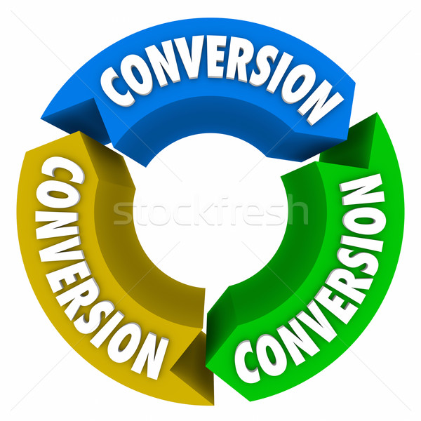 Conversion 3 Arrows Cycle Sales Process Stock photo © iqoncept