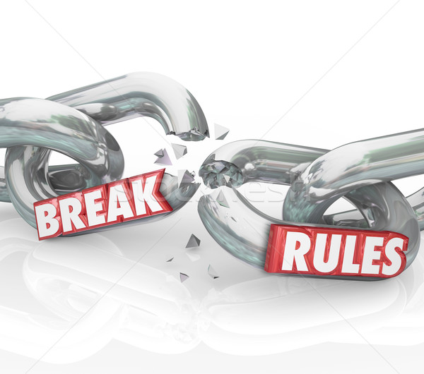 Break Rules Rebel Protest Breaking Chains Stock photo © iqoncept